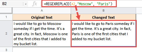 RegexReplace to replace a word