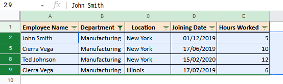 Quickly Highlighting Rows Containing a Particular Value